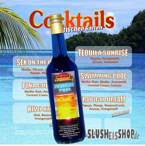 MR. MIXED Premium Cocktail Base Swimming Pool, Konzentrat (32%Vol)